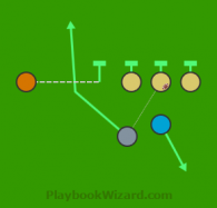 6 on 6 flag football play