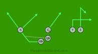 Swing Pass is a 6 on 6 flag football play