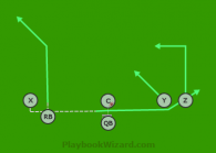Brown is a 6 on 6 flag football play