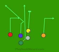 hb go is a 6 on 6 flag football play