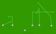 3-1-7 Indy is a 6 on 6 flag football play