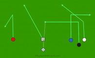 #1 - Black Crossing Route is a 6 on 6 flag football play