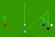 #7 - White Quick Slant is a 6 on 6 flag football play