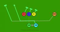 1 is a 6 on 6 flag football play