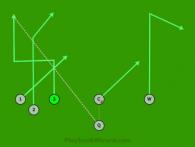 T Alpha - DEEP is a 6 on 6 flag football play