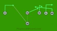 blitz pass is a 6 on 6 flag football play