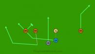 QB Slot Option is a 6 on 6 flag football play
