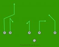 X-23 is a 6 on 6 flag football play